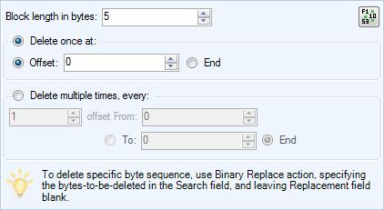 Delete / Remove Bytes