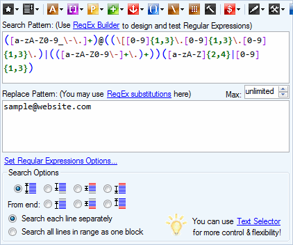 Batch RegEx   Free Download  Find, replace, extract, format