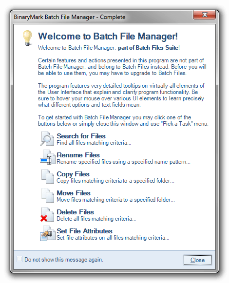 Batch File Manager | Free Download |Rename, move, copy