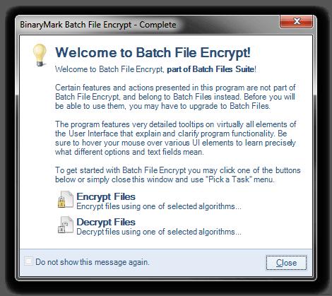 Batch File Encrypt | Free Download |Encrypt / decrypt whole