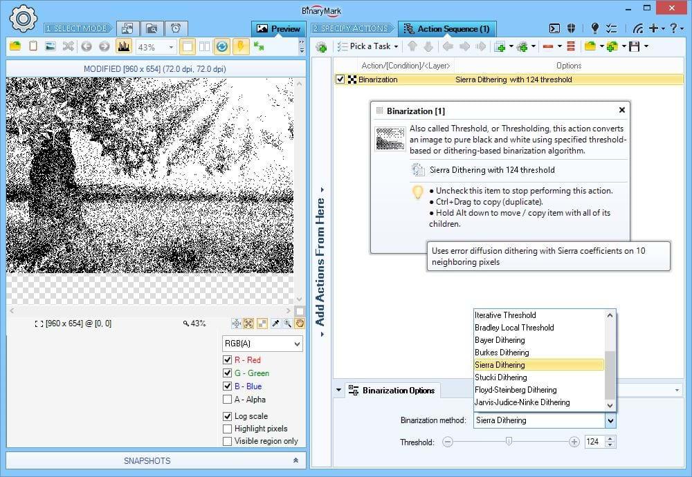Binarization Filter