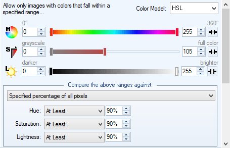 Color Levels Condition