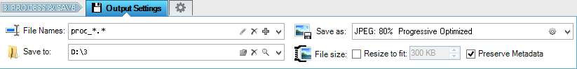 Specify File Name, Output Folder, and Photo Format