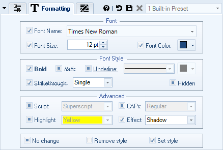 Add new Text Content to Documents