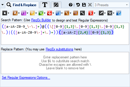 Search and Replace Text in Word Documents with Regular Expressions