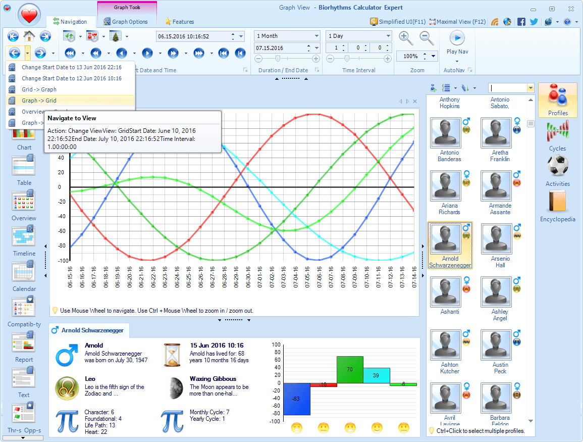 Biorhythms calculator 2018 software free biorhythm charts and biorhythms calculator navigation features nvjuhfo Images