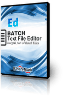 Batch Text File Editor Box