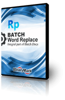 Batch Word Replace logo