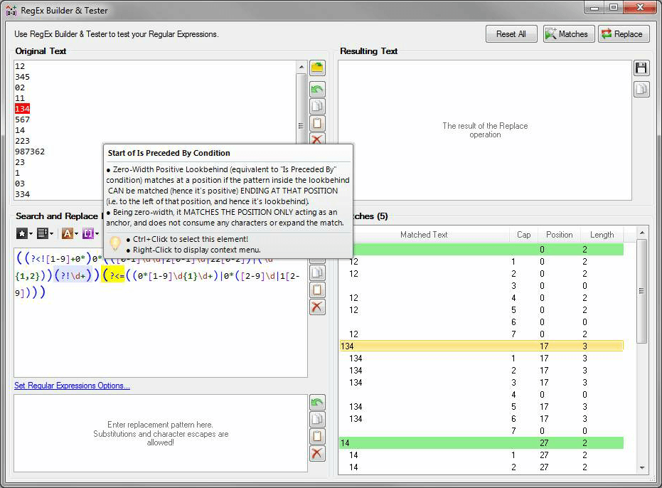 RegEx Edit Screenshot