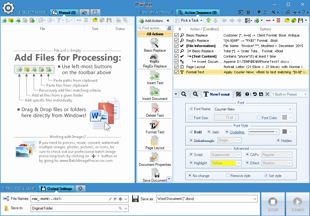 Replace Text and Formatting in 1000s of Word Documents, PDFs